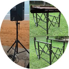 Soportes de altavoz y soportes de mixer