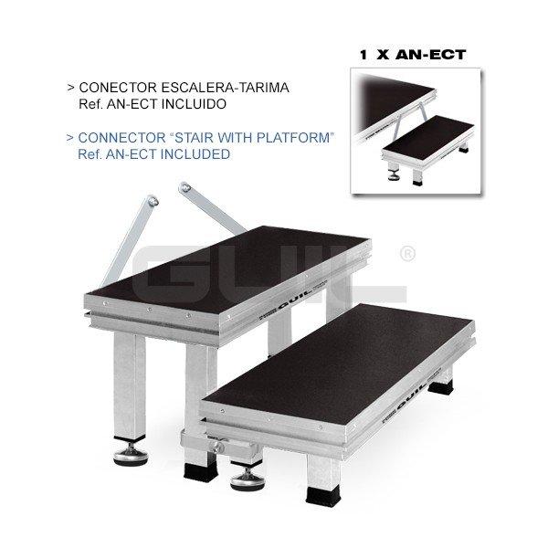 Ect20 40 escalera modular de aluminio de 2 pelda os con 3 for Escalera aluminio 2 peldanos