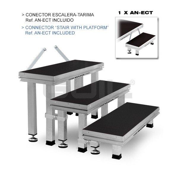 ect20 60 escalera modular de aluminio de 3 pelda os con 3