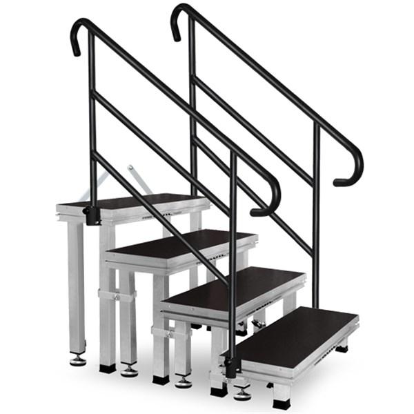 ect20 80 escalera modular de aluminio de 4 pelda os con 3